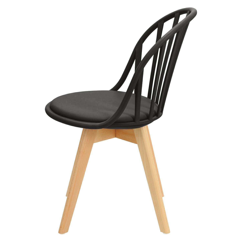 Krzesło Sirena czarne - zdjęcie nr 6