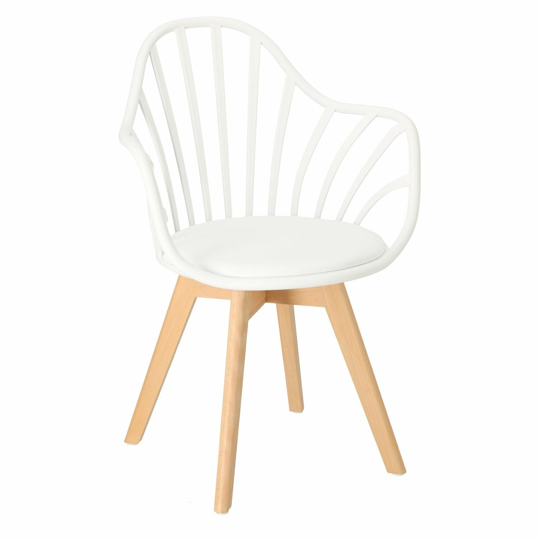 Krzesło Sirena z podłokietnikami białe - zdjęcie nr 0