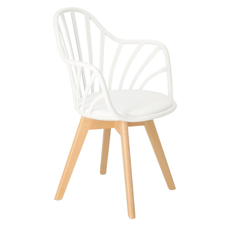 Krzesło Sirena z podłokietnikami białe - zdjęcie nr 1