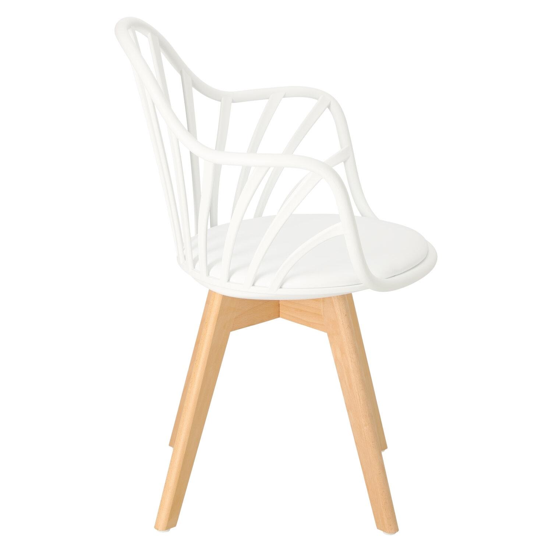 Krzesło Sirena z podłokietnikami białe - zdjęcie nr 2