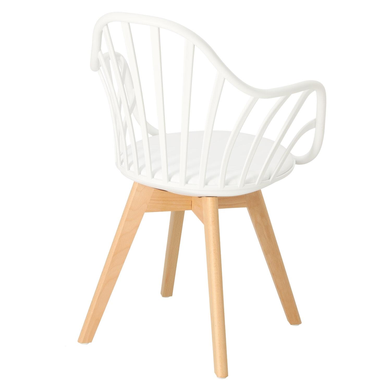 Krzesło Sirena z podłokietnikami białe - zdjęcie nr 4