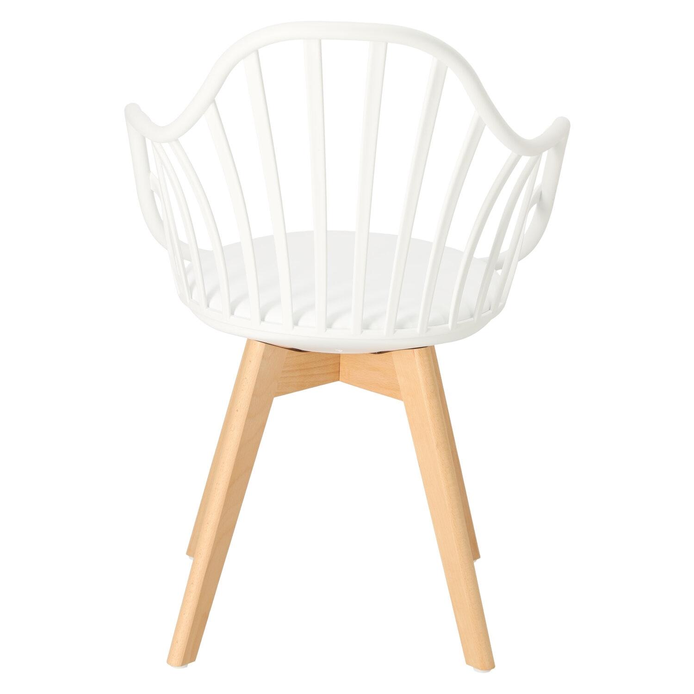 Krzesło Sirena z podłokietnikami białe - zdjęcie nr 5