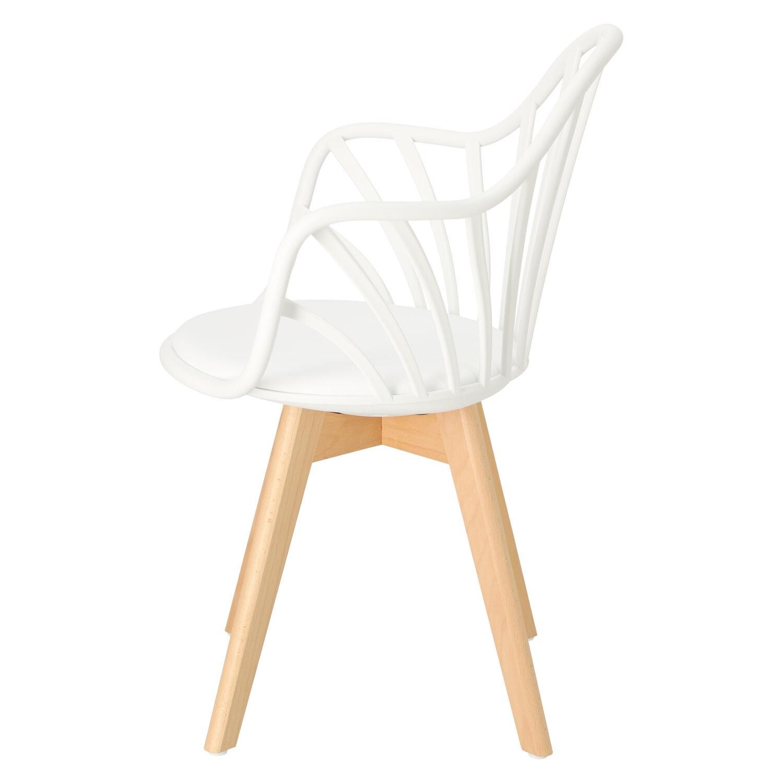 Krzesło Sirena z podłokietnikami białe - zdjęcie nr 6