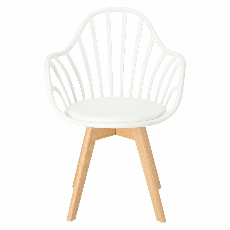 Krzesło Sirena z podłokietnikami białe - zdjęcie nr 7