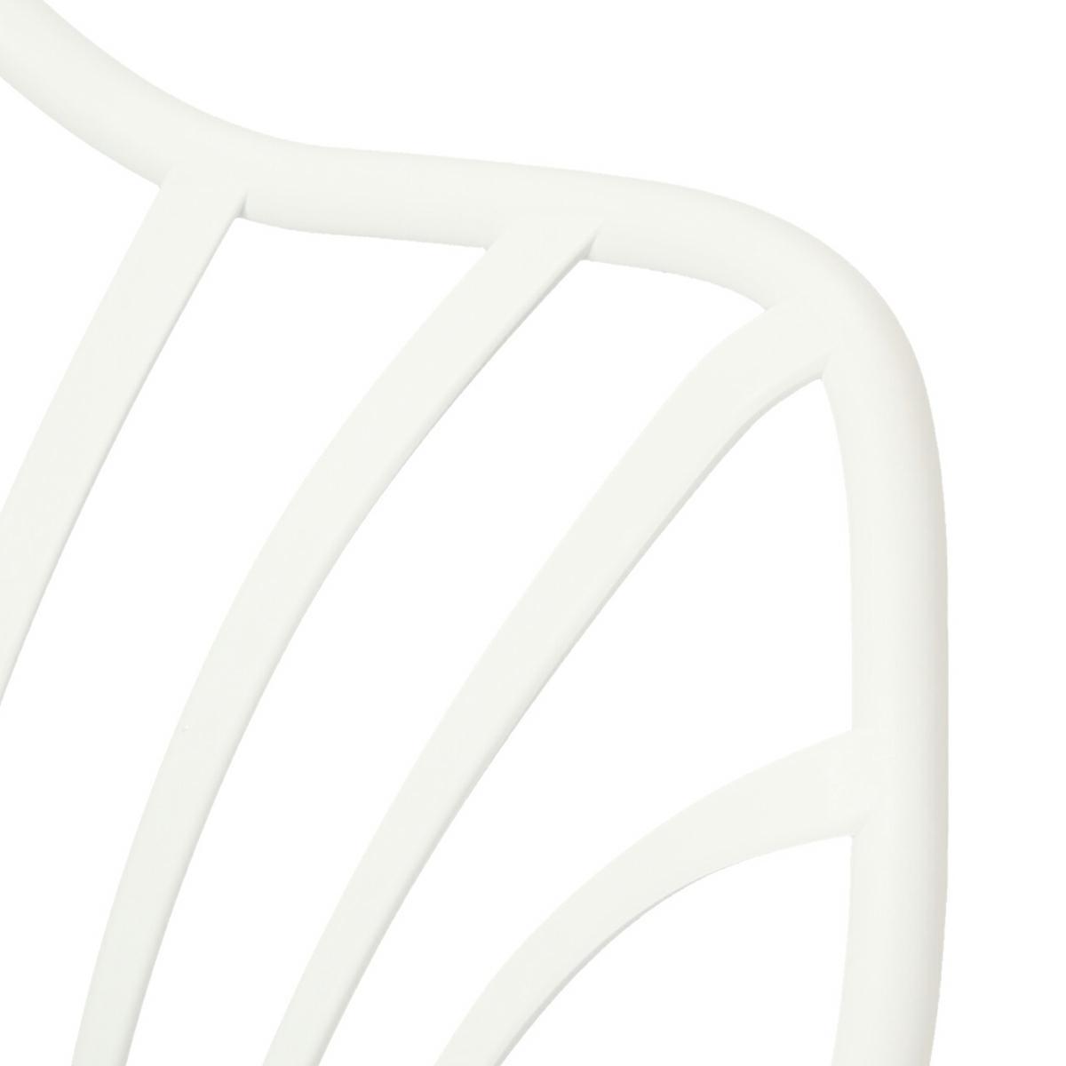 Krzesło Sirena z podłokietnikami białe - zdjęcie nr 9