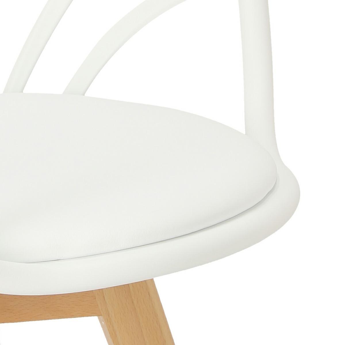 Krzesło Sirena z podłokietnikami białe - zdjęcie nr 10
