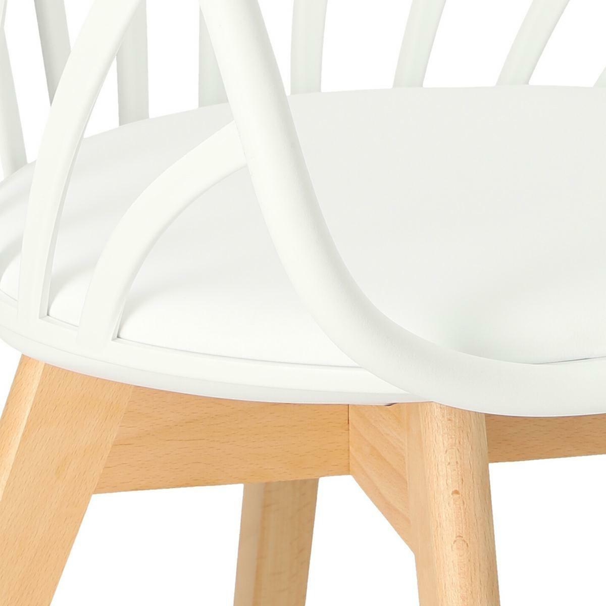 Krzesło Sirena z podłokietnikami białe - zdjęcie nr 11