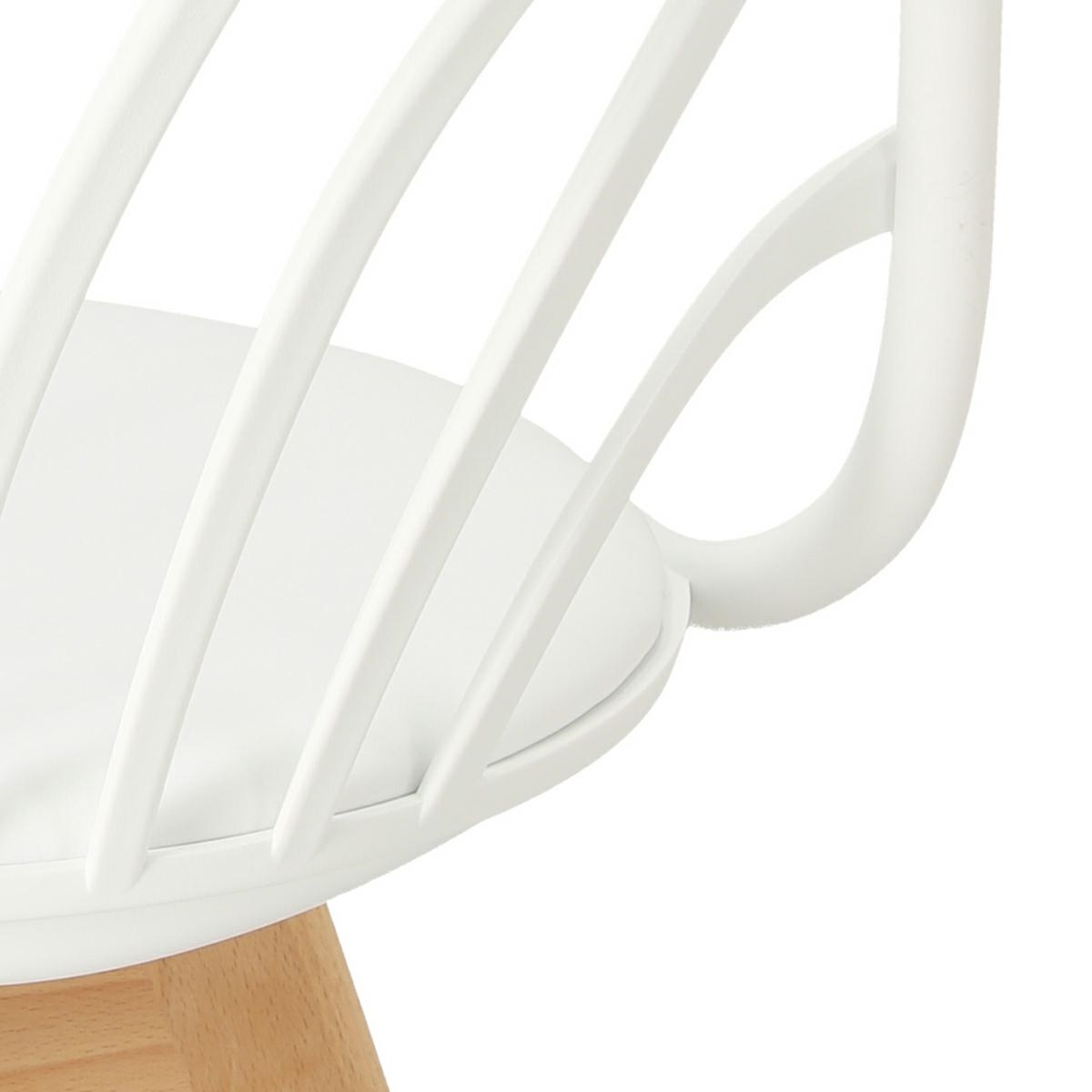 Krzesło Sirena z podłokietnikami białe - zdjęcie nr 12