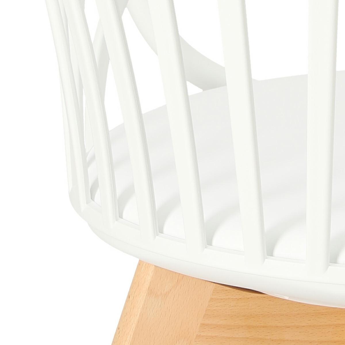Krzesło Sirena z podłokietnikami białe - zdjęcie nr 13