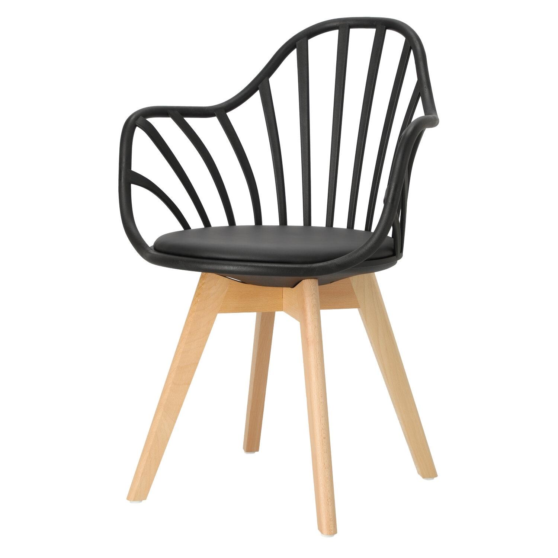 Krzesło Sirena z podłokietnikami czarne - zdjęcie nr 10