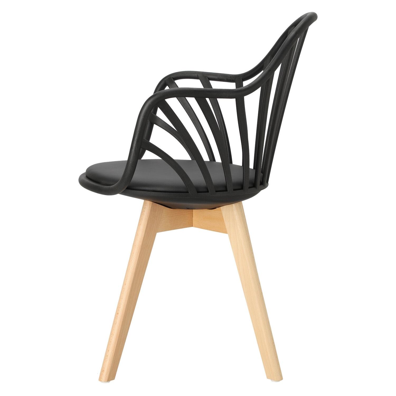 Krzesło Sirena z podłokietnikami czarne - zdjęcie nr 11