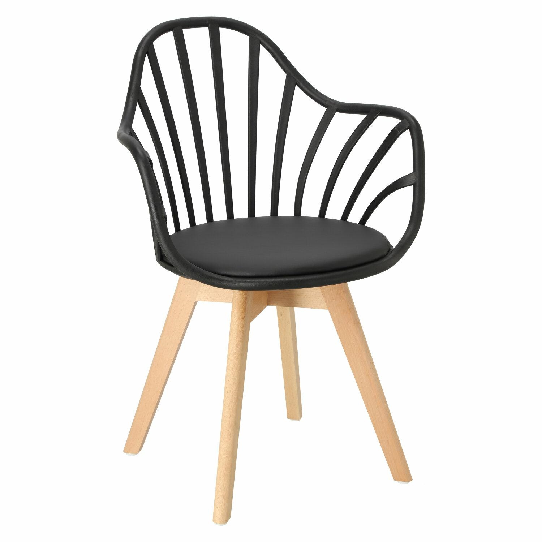 Krzesło Sirena z podłokietnikami czarne - zdjęcie nr 0