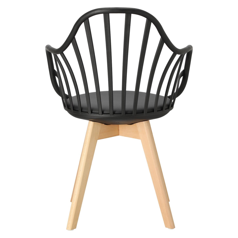 Krzesło Sirena z podłokietnikami czarne - zdjęcie nr 12