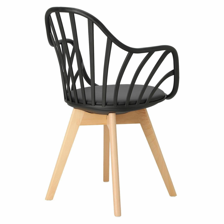Krzesło Sirena z podłokietnikami czarne - zdjęcie nr 13
