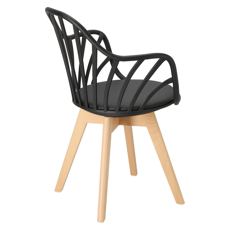Krzesło Sirena z podłokietnikami czarne - zdjęcie nr 4