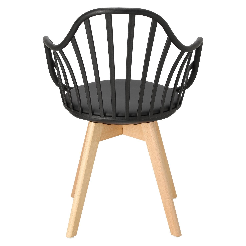 Krzesło Sirena z podłokietnikami czarne - zdjęcie nr 6
