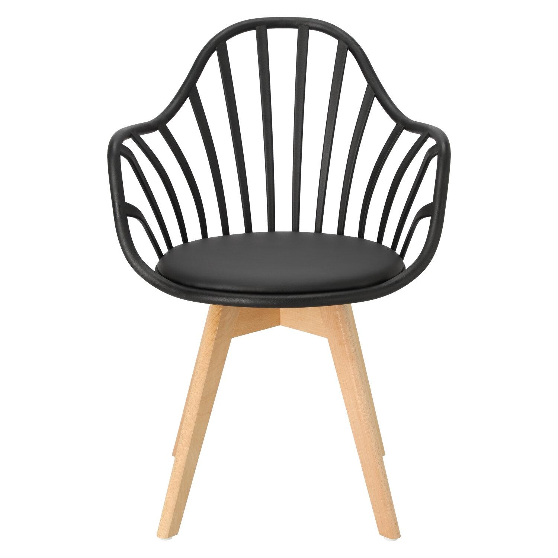 Krzesło Sirena z podłokietnikami czarne - zdjęcie nr 8