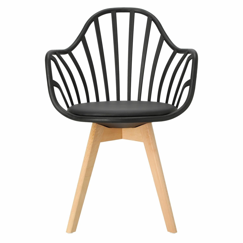 Krzesło Sirena z podłokietnikami czarne - zdjęcie nr 9