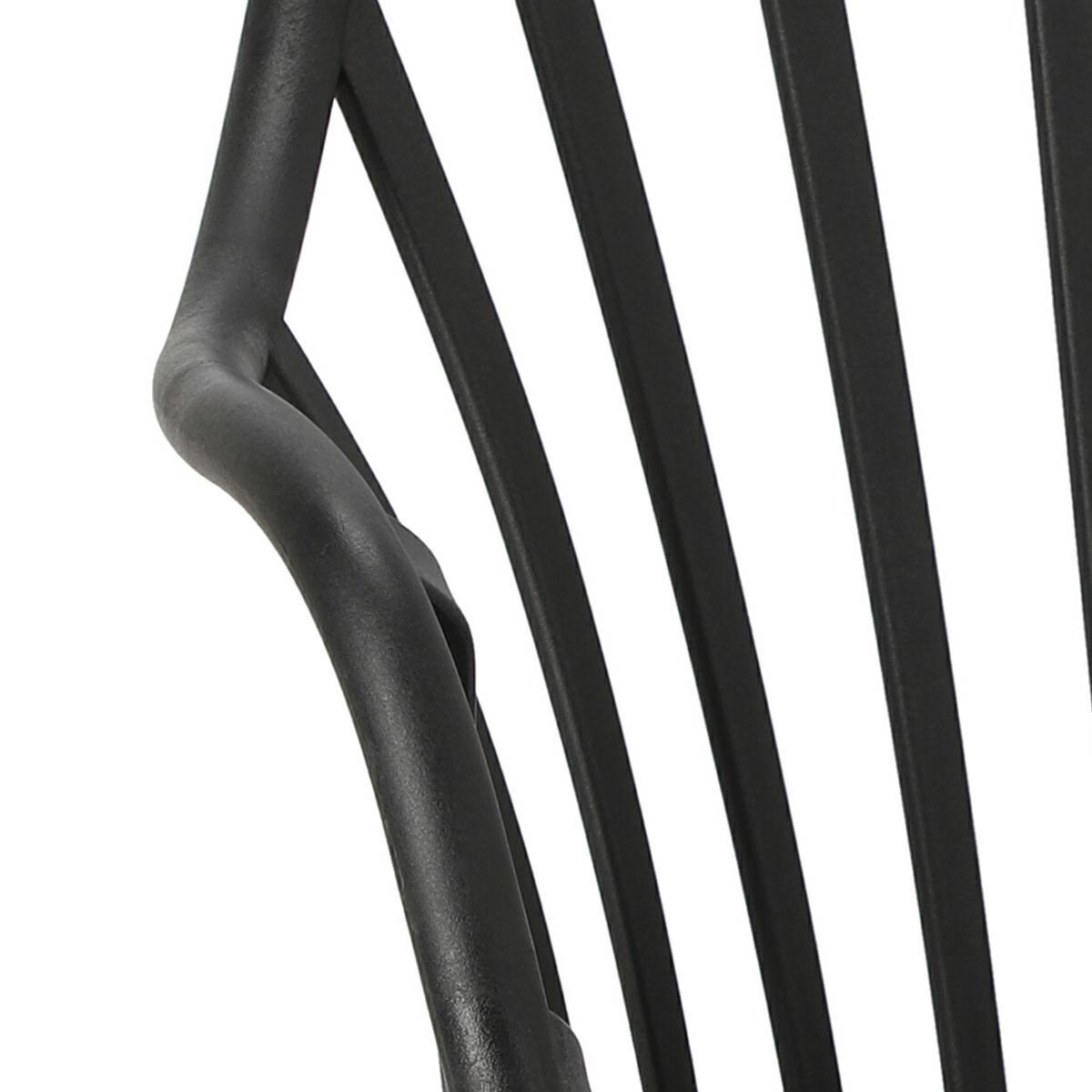 Krzesło Sirena z podłokietnikami czarne - zdjęcie nr 14