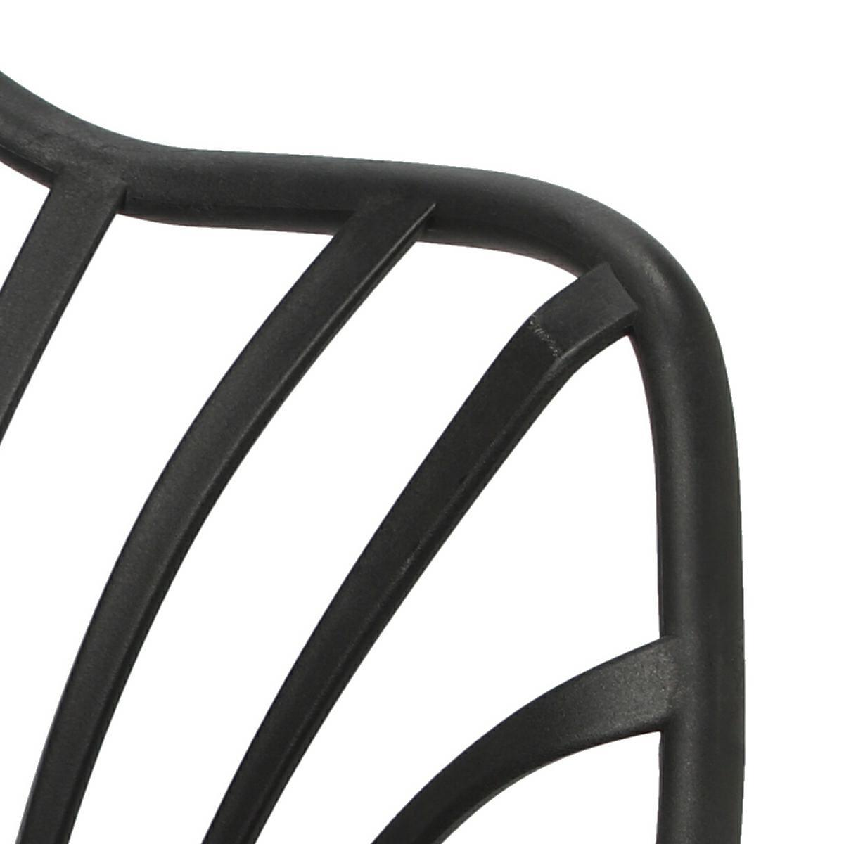 Krzesło Sirena z podłokietnikami czarne - zdjęcie nr 15