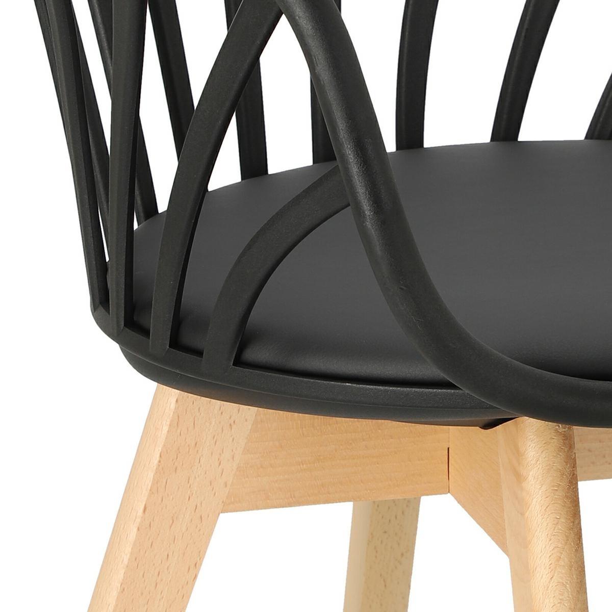 Krzesło Sirena z podłokietnikami czarne - zdjęcie nr 17