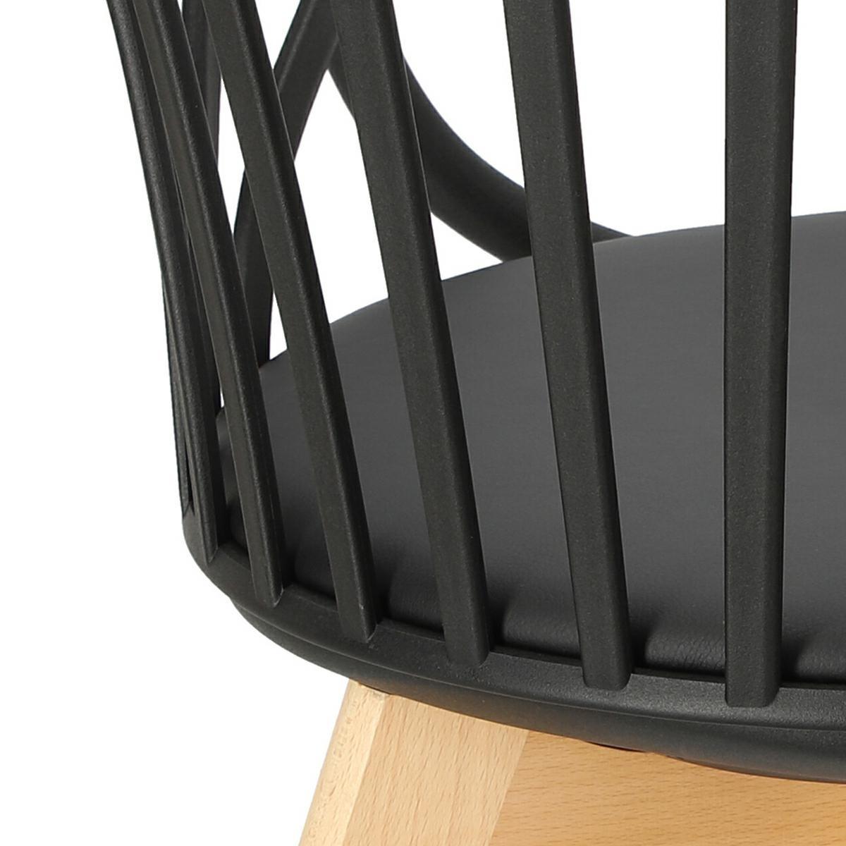 Krzesło Sirena z podłokietnikami czarne - zdjęcie nr 19
