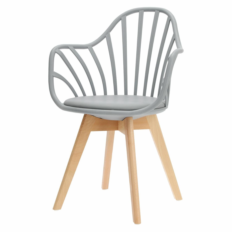 Krzesło Sirena z podłokietnikami szare - zdjęcie nr 10