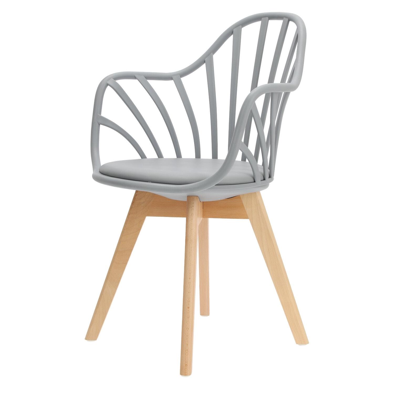 Krzesło Sirena z podłokietnikami szare - zdjęcie nr 11