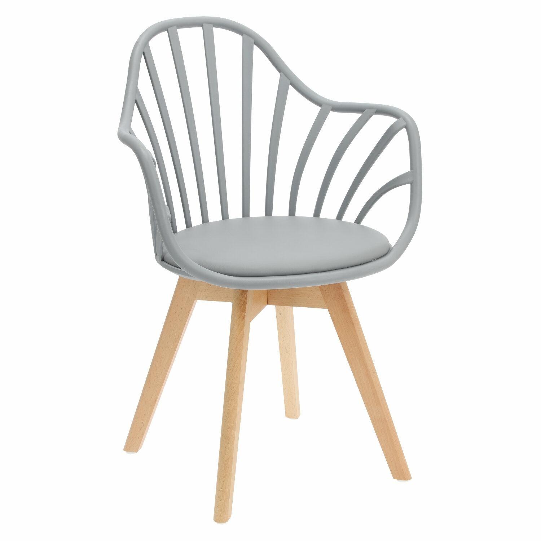 Krzesło Sirena z podłokietnikami szare - zdjęcie nr 0