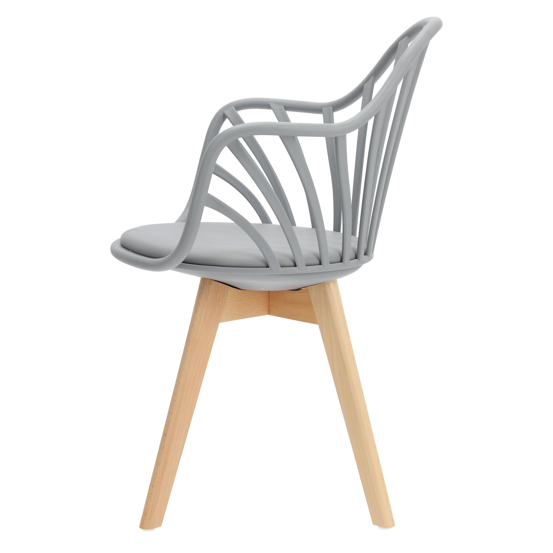 Krzesło Sirena z podłokietnikami szare - zdjęcie nr 12