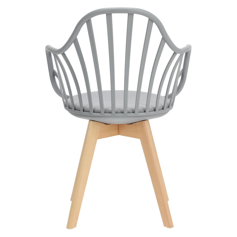 Krzesło Sirena z podłokietnikami szare - zdjęcie nr 13