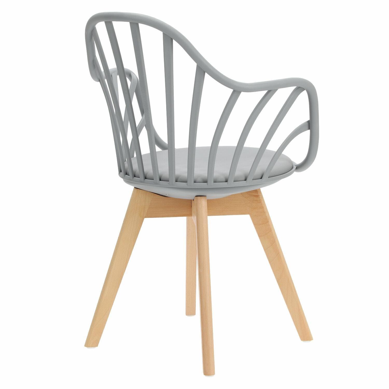 Krzesło Sirena z podłokietnikami szare - zdjęcie nr 14