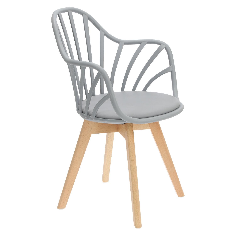 Krzesło Sirena z podłokietnikami szare - zdjęcie nr 2