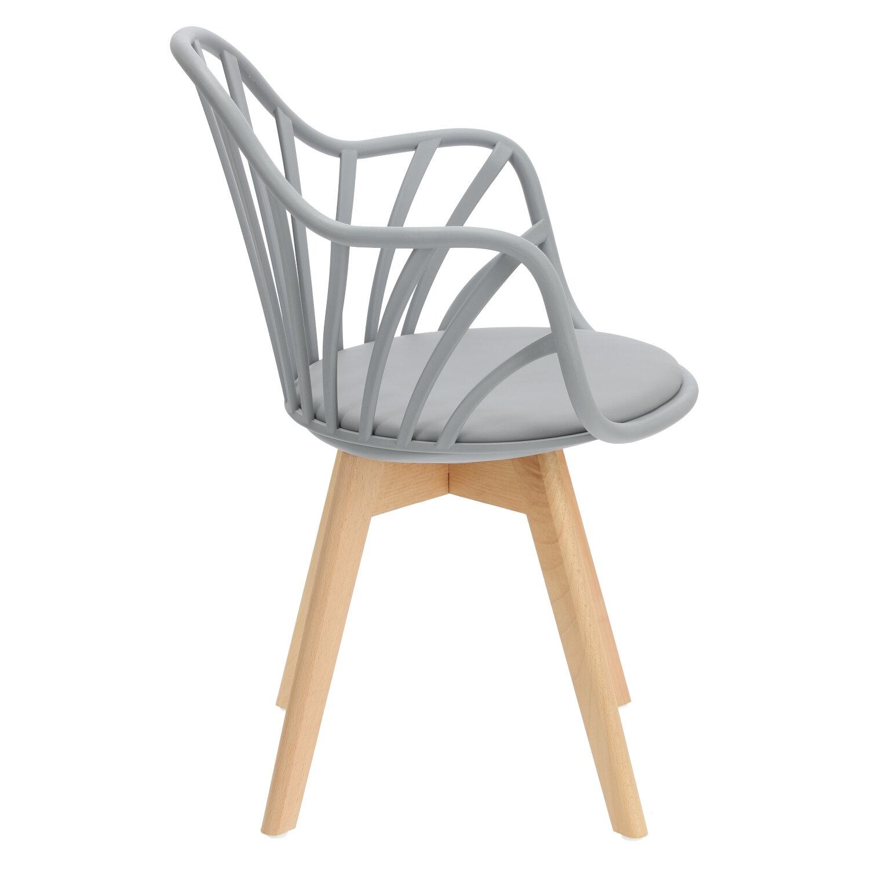 Krzesło Sirena z podłokietnikami szare - zdjęcie nr 3