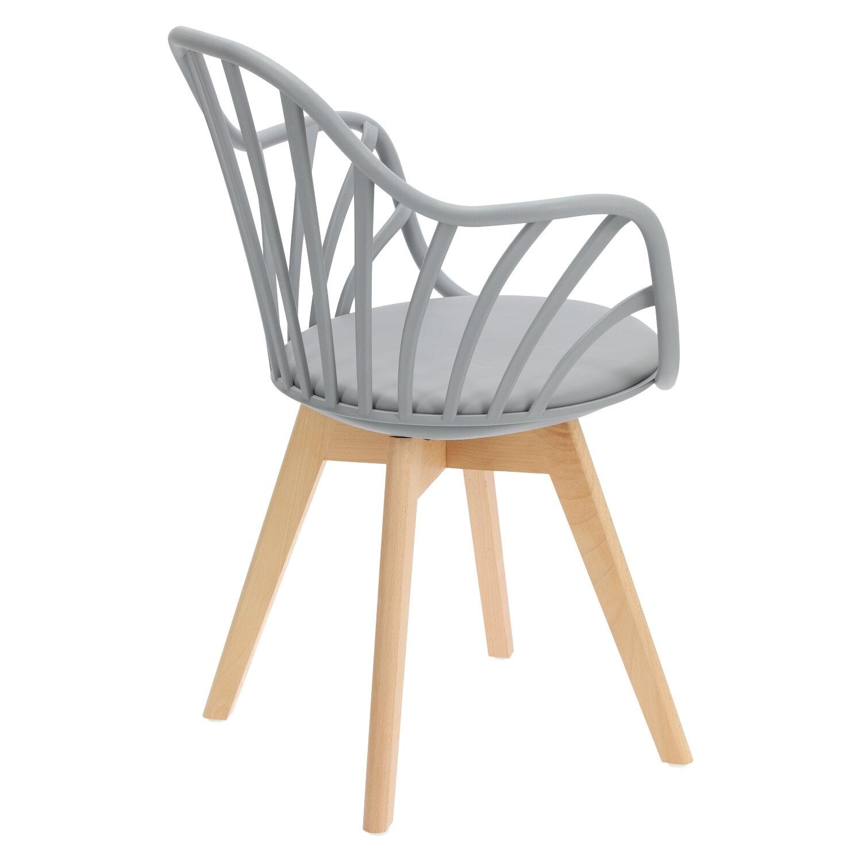 Krzesło Sirena z podłokietnikami szare - zdjęcie nr 4