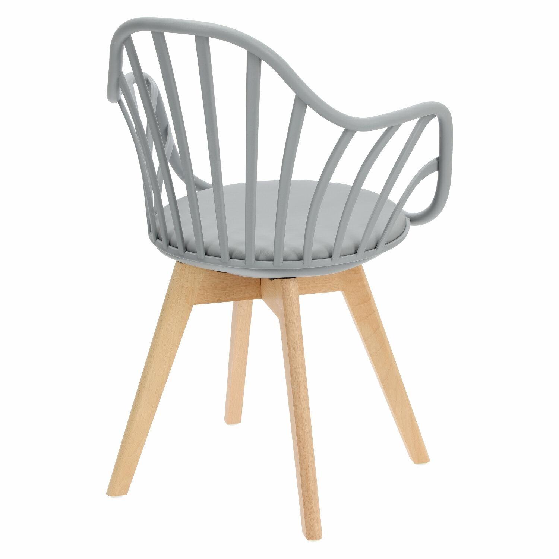 Krzesło Sirena z podłokietnikami szare - zdjęcie nr 5