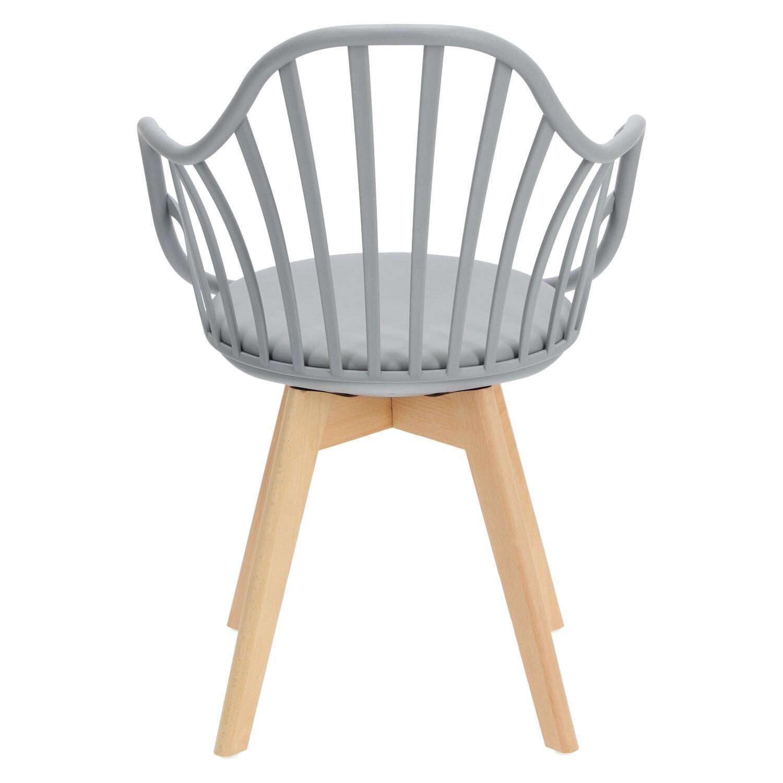 Krzesło Sirena z podłokietnikami szare - zdjęcie nr 6