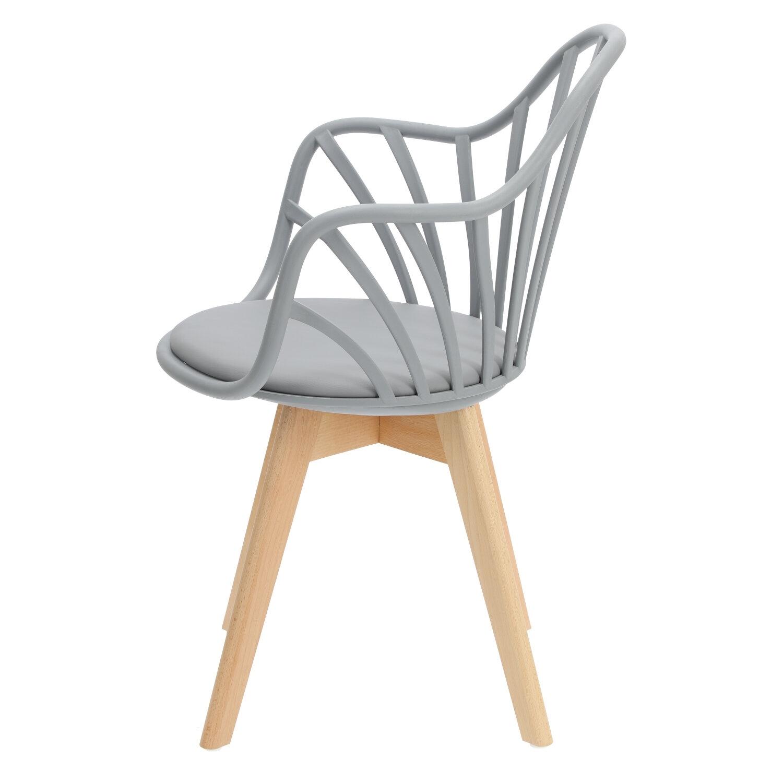 Krzesło Sirena z podłokietnikami szare - zdjęcie nr 7