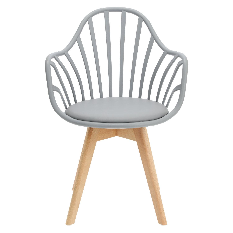 Krzesło Sirena z podłokietnikami szare - zdjęcie nr 8