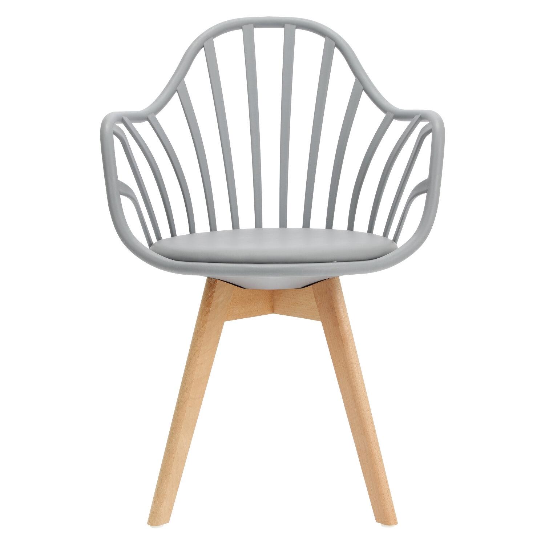 Krzesło Sirena z podłokietnikami szare - zdjęcie nr 9
