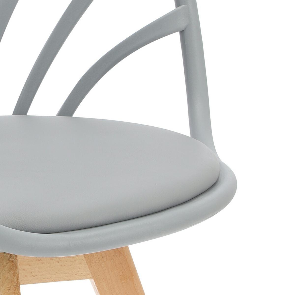 Krzesło Sirena z podłokietnikami szare - zdjęcie nr 17
