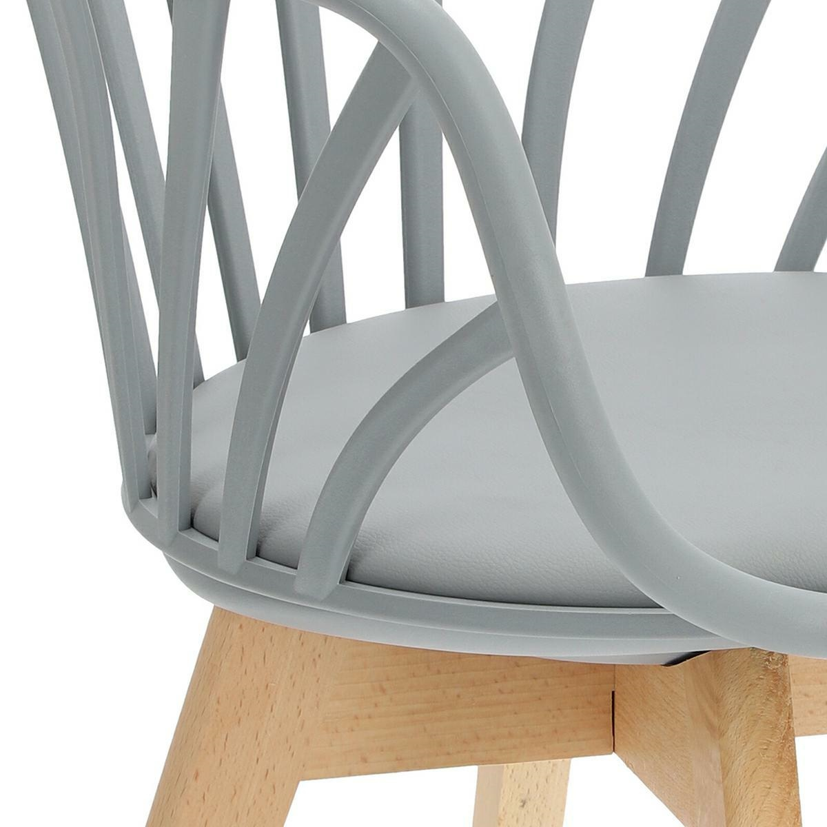 Krzesło Sirena z podłokietnikami szare - zdjęcie nr 18