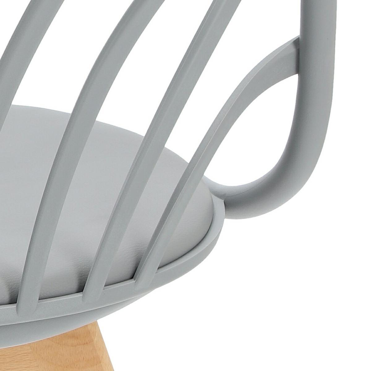 Krzesło Sirena z podłokietnikami szare - zdjęcie nr 19