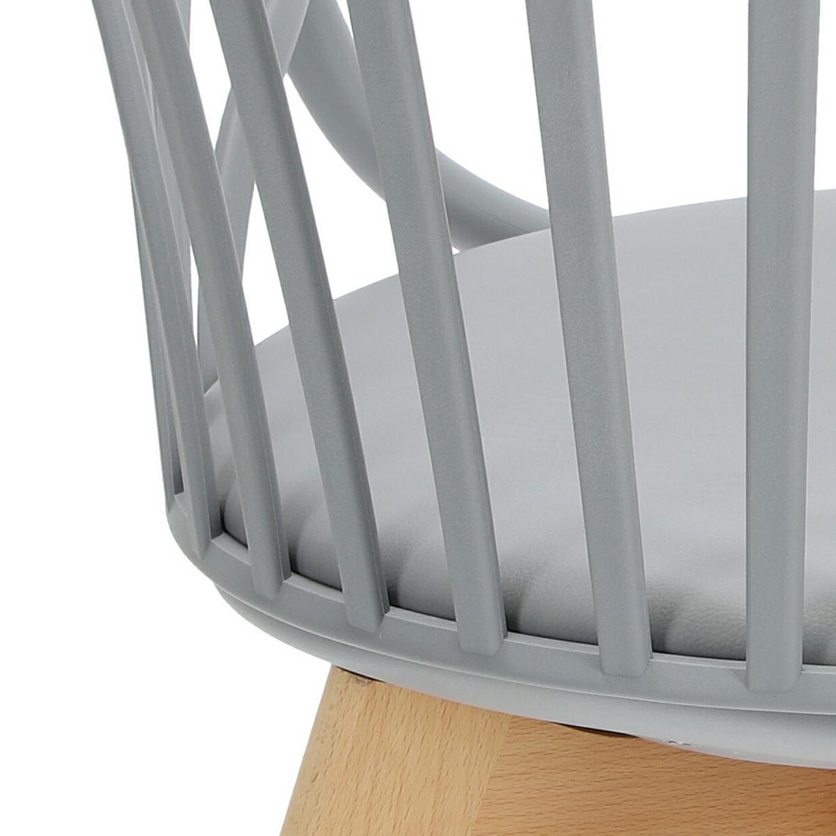 Krzesło Sirena z podłokietnikami szare - zdjęcie nr 20