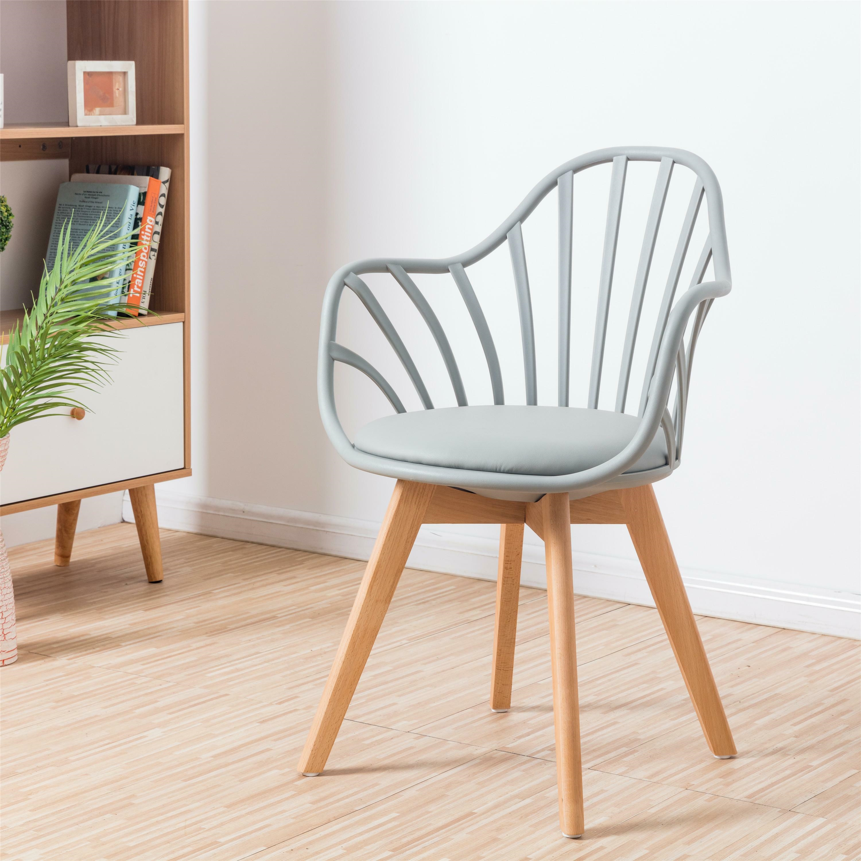 Krzesło Sirena z podłokietnikami szare - zdjęcie nr 1