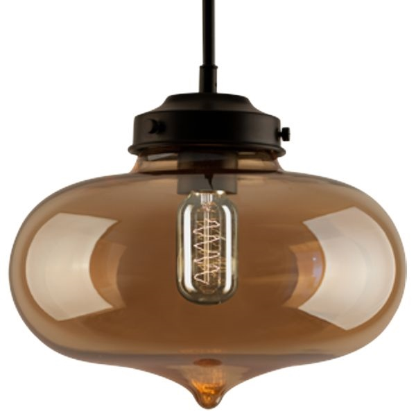Závěsné svítidlo Altavola Design London Loft 1 CL jantarově kouřové