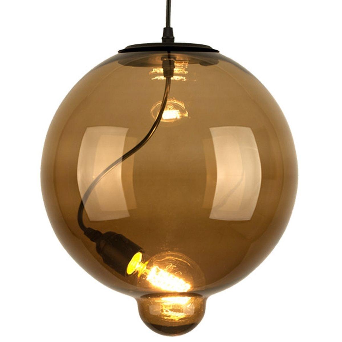 Závěsné svítidlo Altavola Design Modern Glass Bubble CO BC světle hnědá jantarová