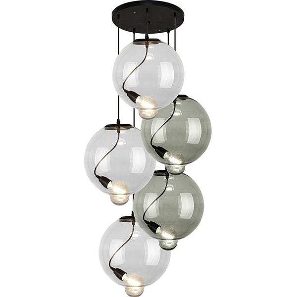 Závěsné svítidlo Altavola Design Modern Glass Bubble CO CS transparentně kouřové