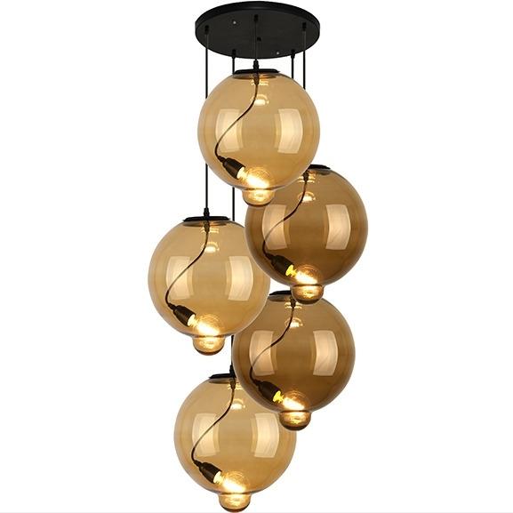 Závěsné svítidlo Altavola Design Modern Glass Bubble CO CB jantarová světle hnědá