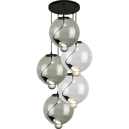 Závěsné svítidlo Altavola Design Modern Glass Bubble CO SC kouřovo transparentní